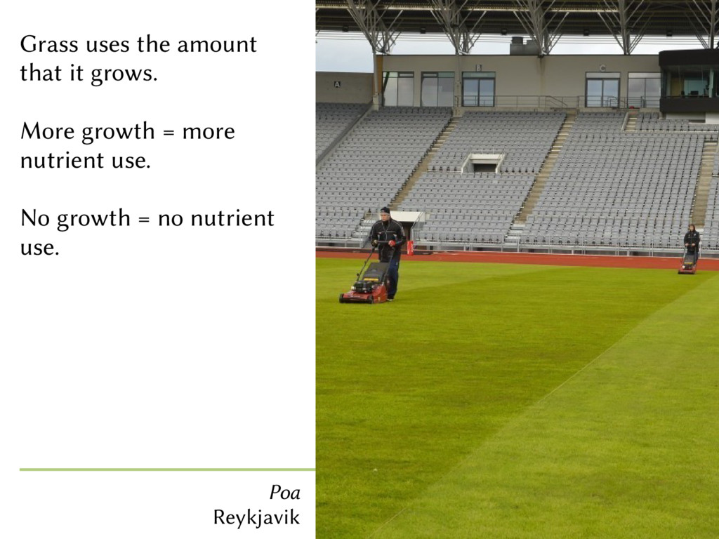 Grass uses the amount that it grows. More growt...