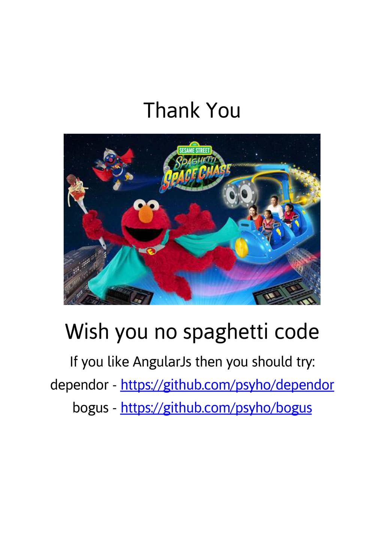 Thank You Wish you no spaghetti code If you lik...