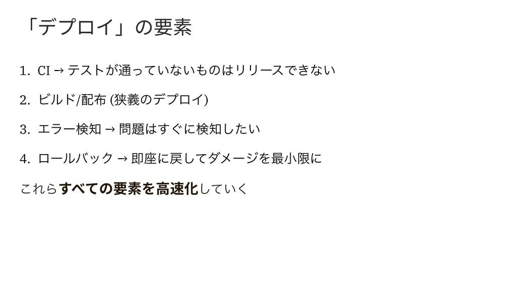 չرفٗ؎պך銲稆 1. CI → ςετ͕௨͍ͬͯͳ͍ͷϦϦʔεͰ͖ͳ͍ 2. Ϗϧυ/...
