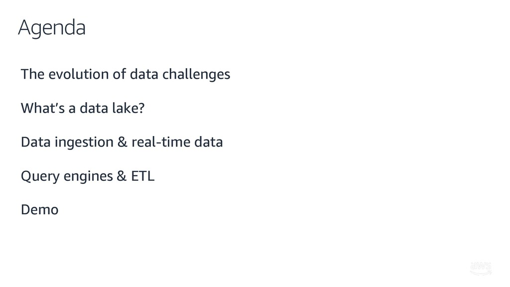 Agenda The evolution of data challenges What's ...