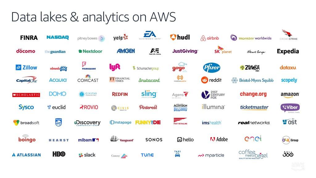Data lakes & analytics on AWS