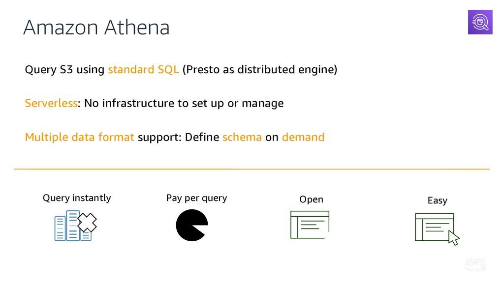 Amazon Athena Query S3 using standard SQL (Pres...