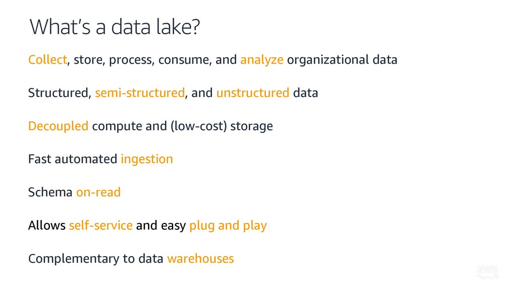 What's a data lake? Collect, store, process, co...