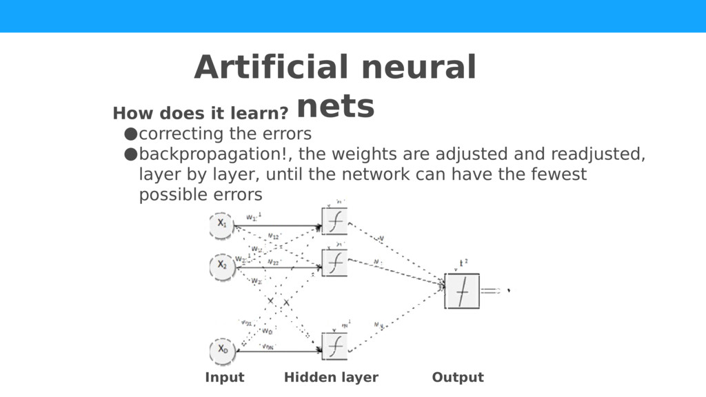 How does it learn? ●correcting the errors ●back...
