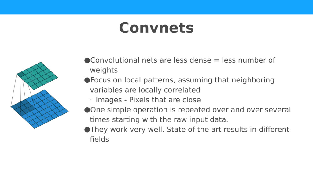 ●Convolutional nets are less dense = less numbe...