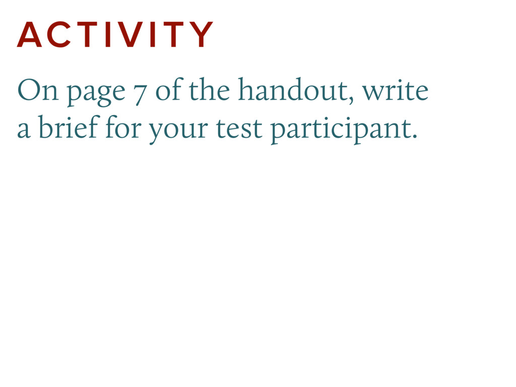ACTIVITY On page 7 of the handout, write a brie...