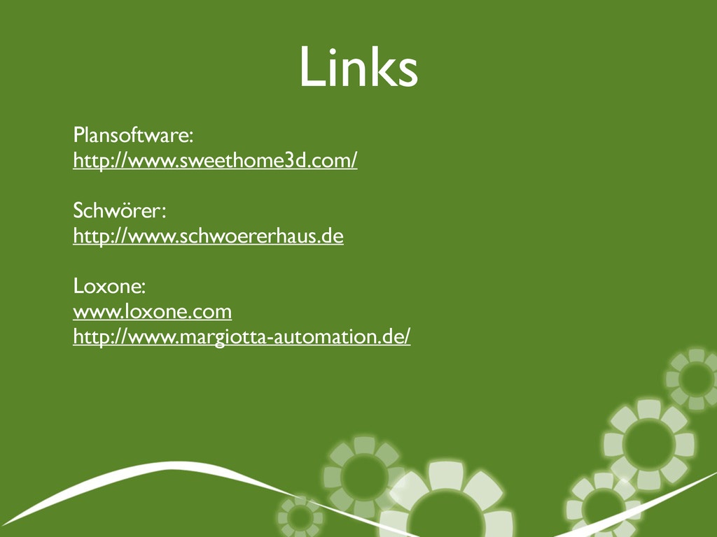 Links Plansoftware: 