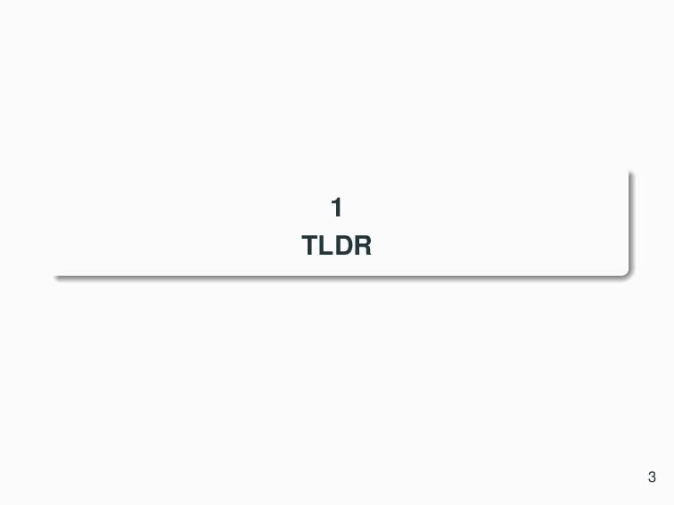 1 TLDR 3