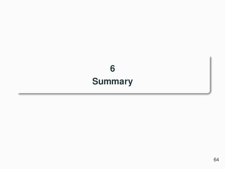 6 Summary 64