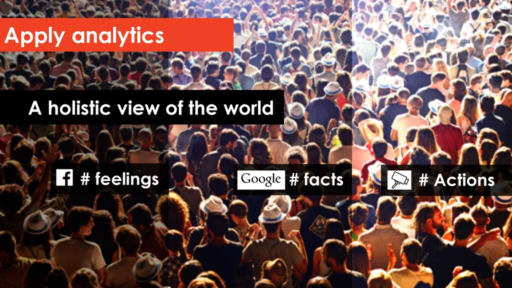 Apply analytics A holistic view of the world # ...