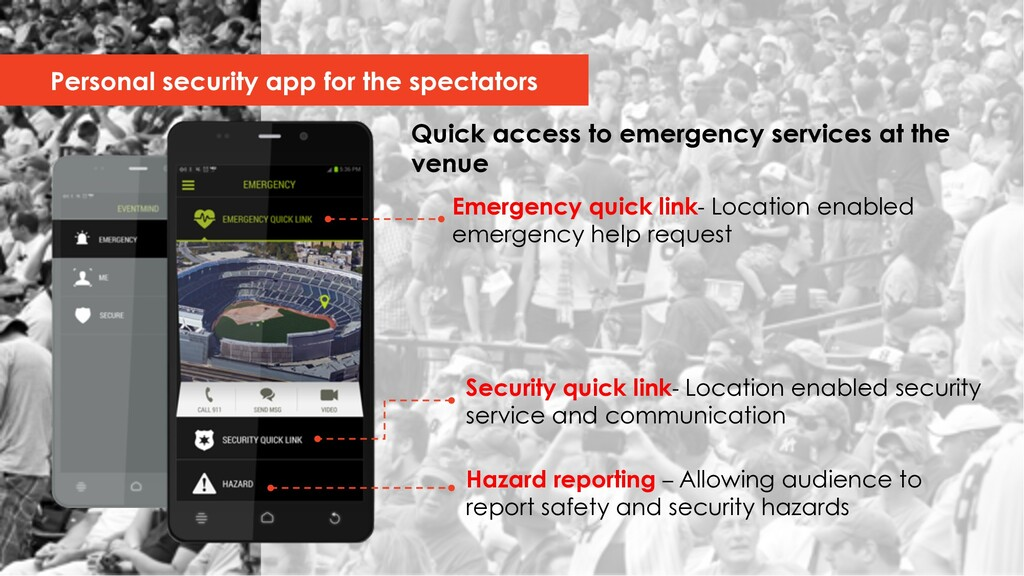 Quick access to emergency services at the venue...