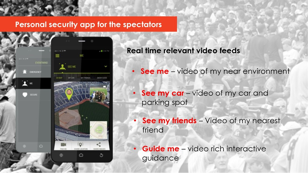 Real time relevant video feeds Personal securit...