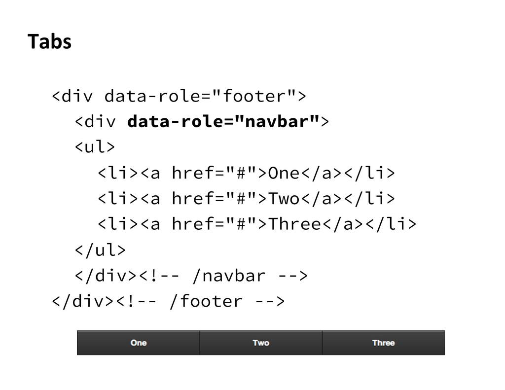 "<div data-role=""footer""> <div data-role=""navbar..."