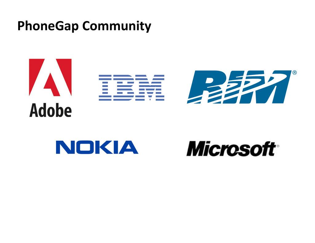 PhoneGap Community