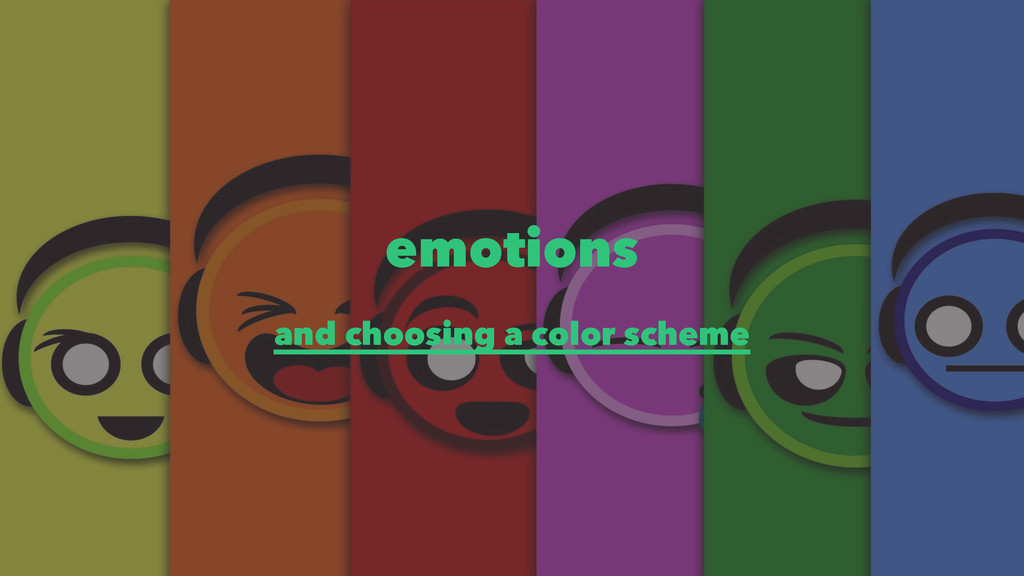emotions and choosing a color scheme