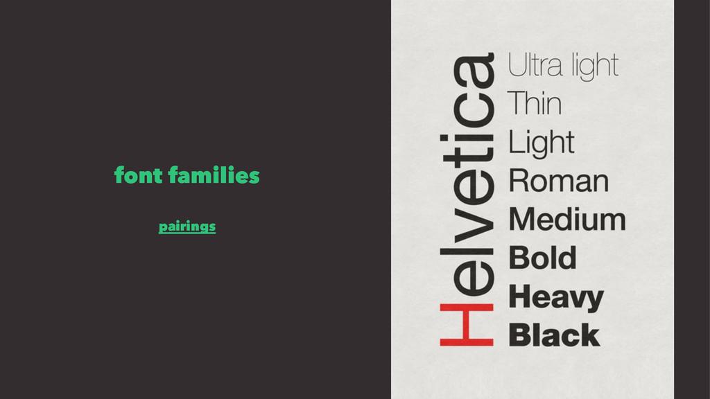 font families pairings