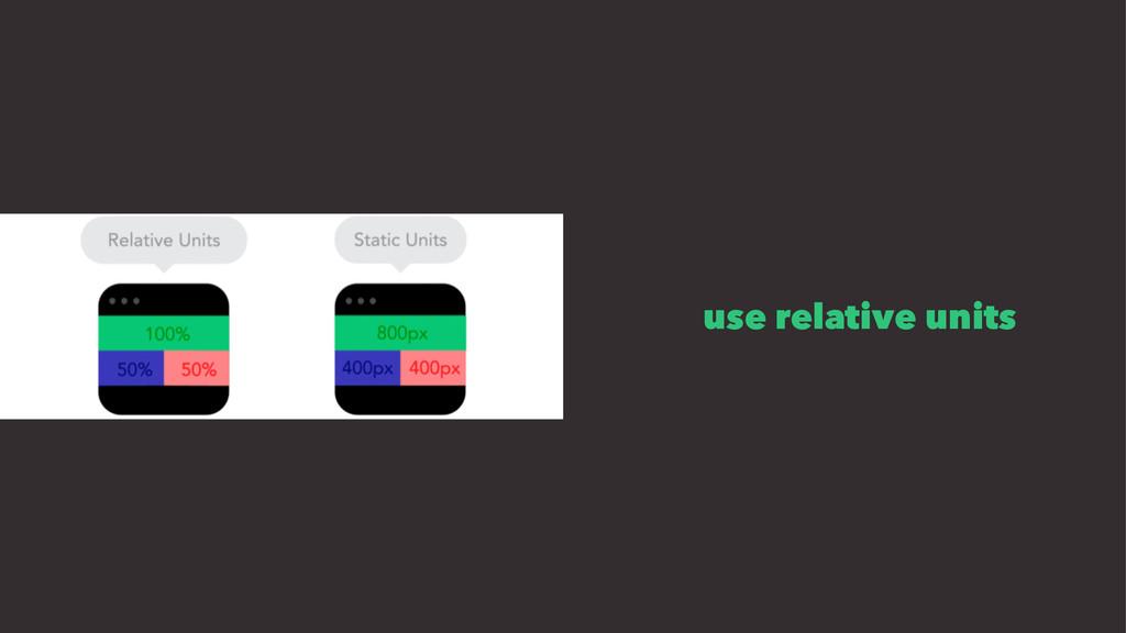 use relative units