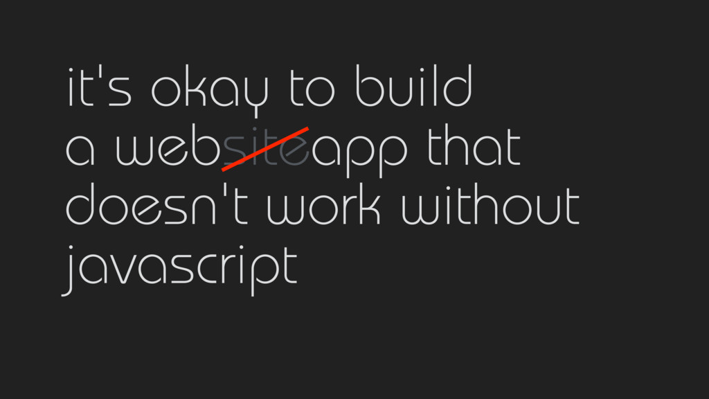 it's okay to build 