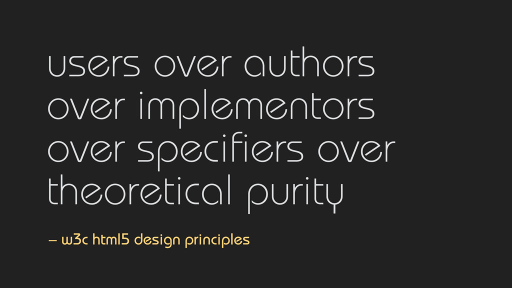 users over authors  over implementors  over s...