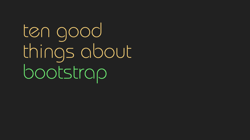 ten good 