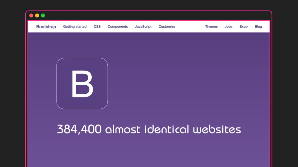 384,400 almost identical websites B