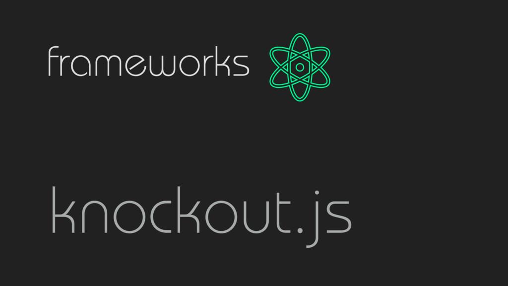 frameworks knockout.js