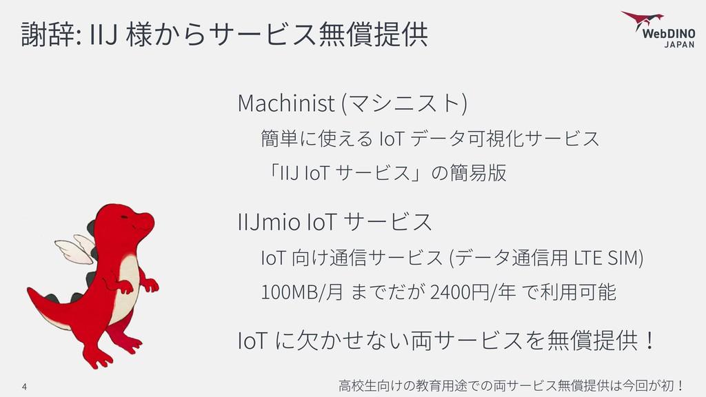 : IIJ Machinist ( ) IoT IIJ IoT IIJmio IoT IoT ...