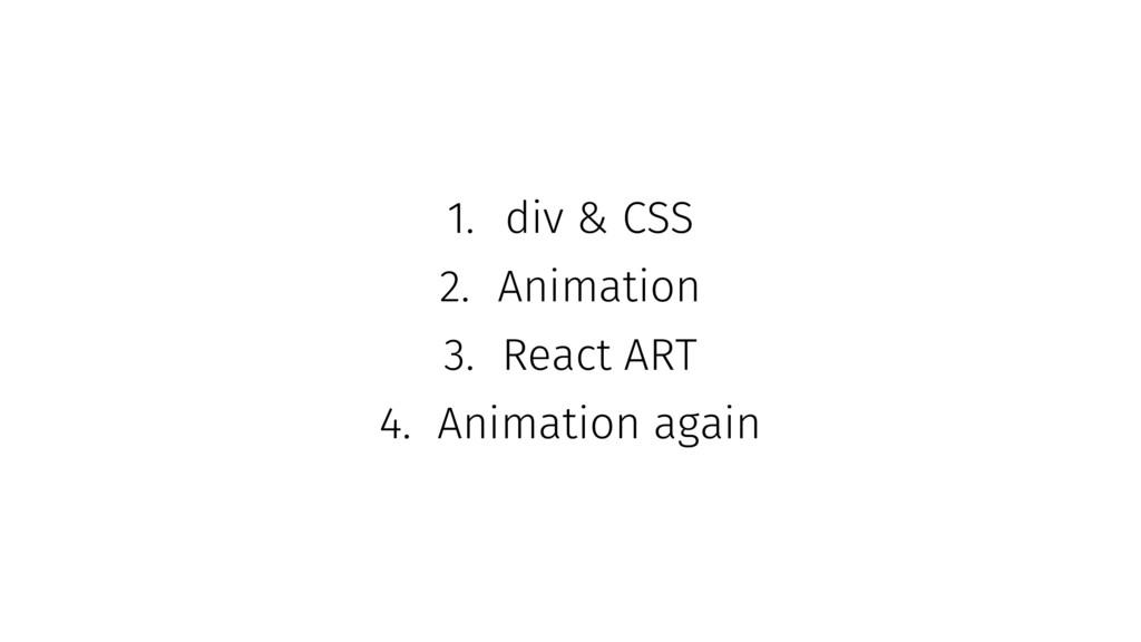 1. div & CSS 2. Animation 3. React ART 4. Anima...
