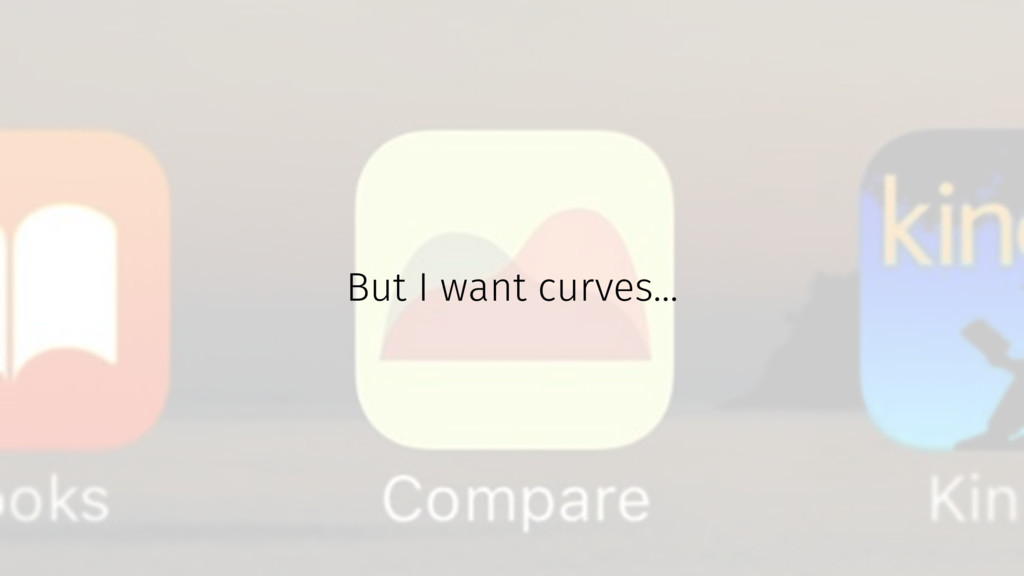 But I want curves...