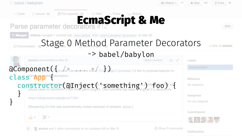 EcmaScript & Me Stage 0 Method Parameter Decora...