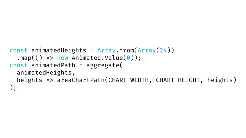 const animatedHeights = Array.from(Array(24)) ....