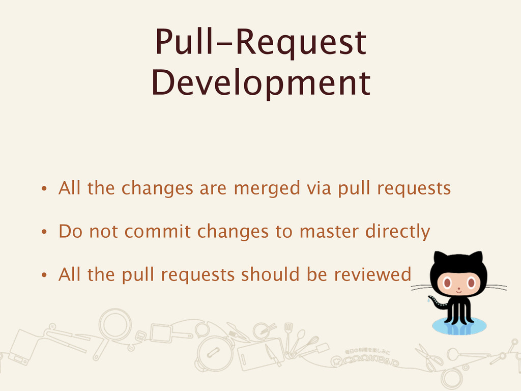 Pull-Request Development • All the changes are ...