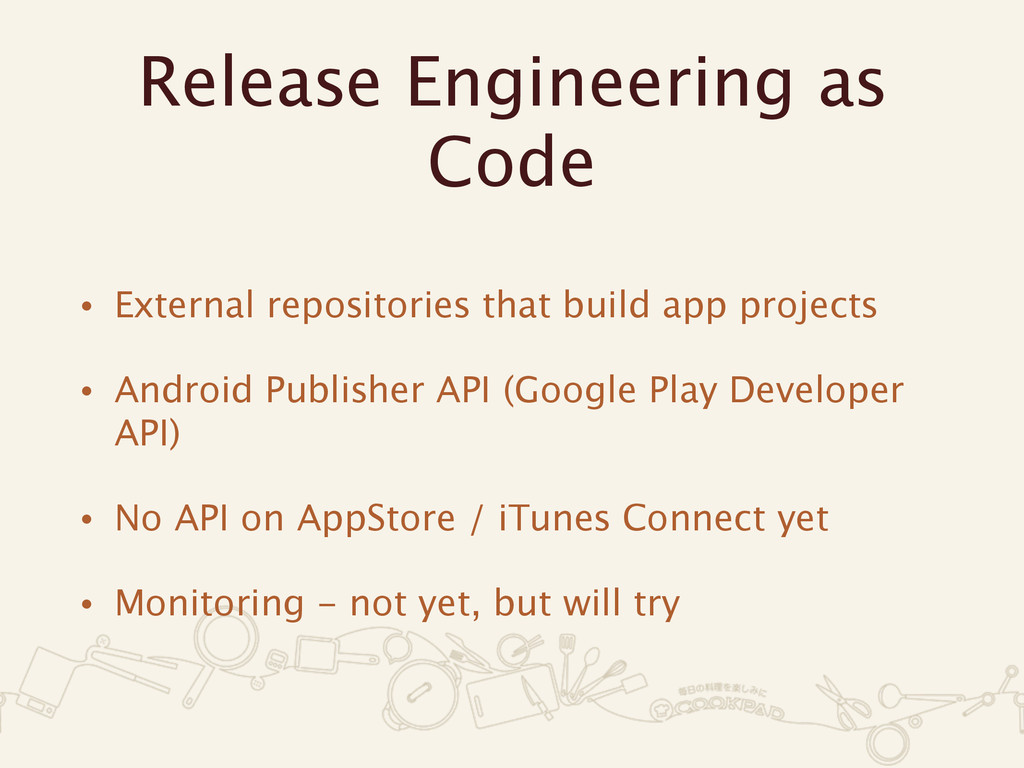 Release Engineering as Code • External reposito...
