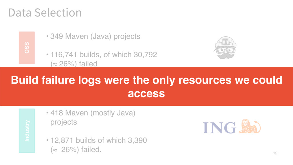 12 Data Selection • 418 Maven (mostly Java) pro...