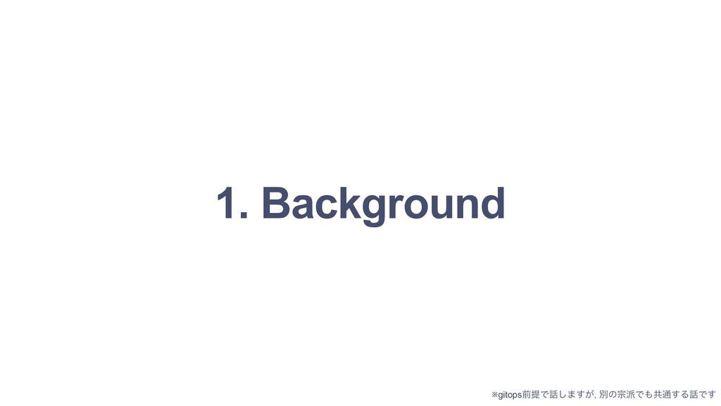 1. Background ※gitopsલఏͰ͠·͕͢, ผͷफͰڞ௨͢ΔͰ͢