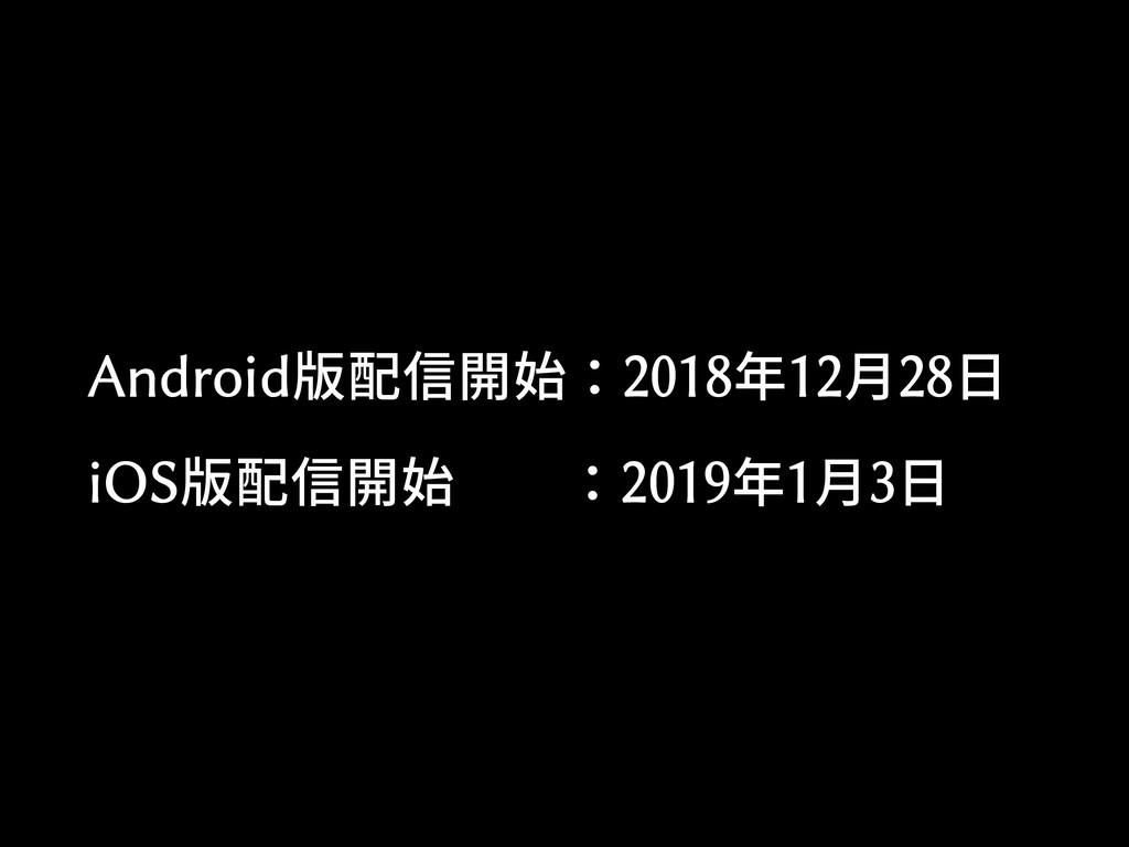 Android版配信開始:2018年12月28日 iOS版配信開始  :2019年1月3日