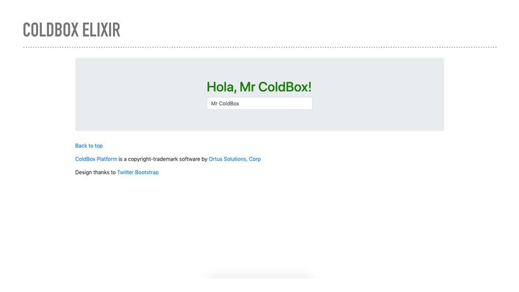 COLDBOX ELIXIR