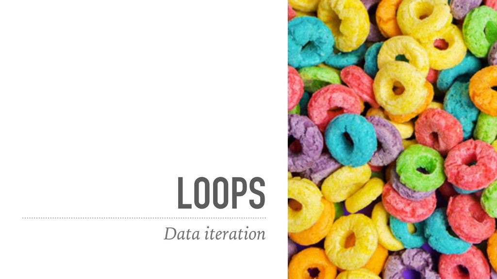 LOOPS Data iteration