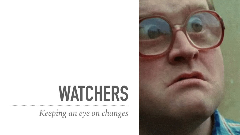 WATCHERS Keeping an eye on changes