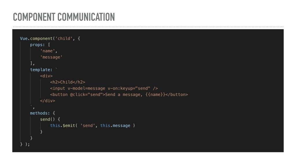 COMPONENT COMMUNICATION