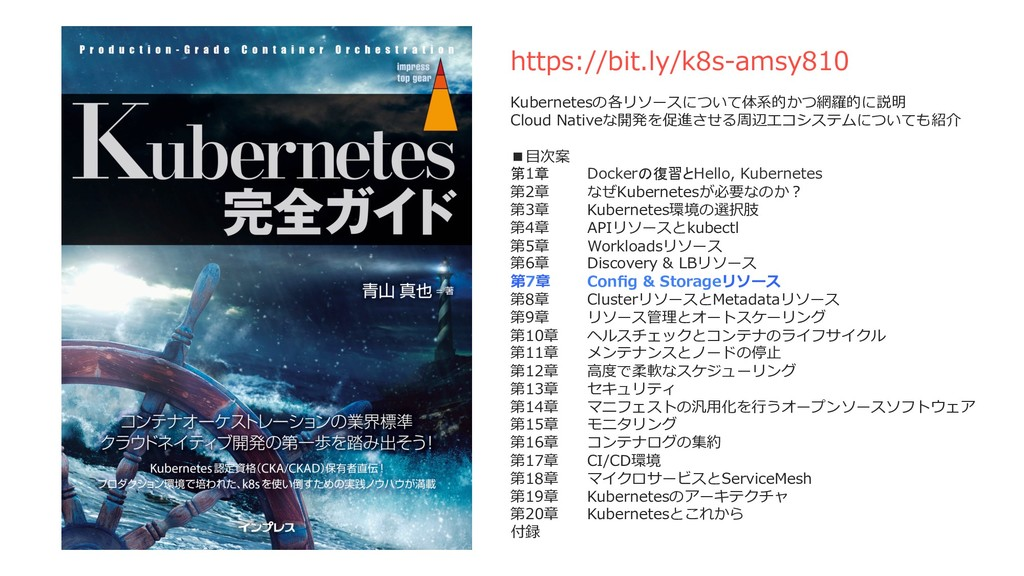 https://bit.ly/k8s-amsy810 Kubernetesの各リソースについて...
