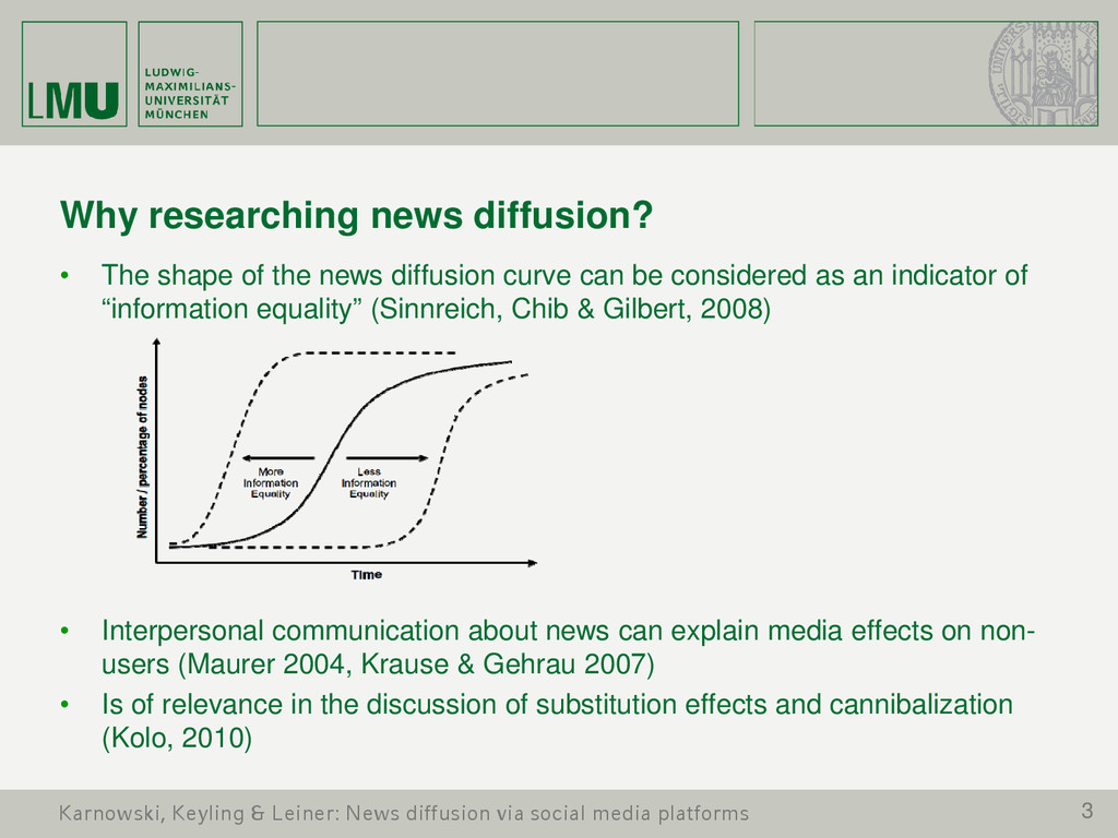 3 Why researching news diffusion? • The shape o...