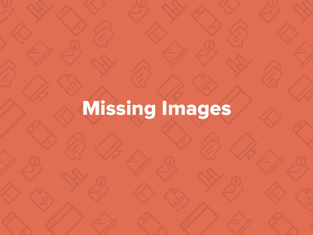 Missing Images