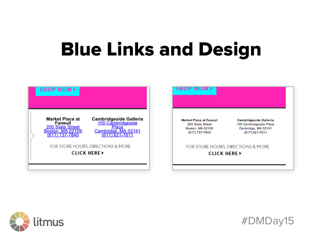 #DMDay15 Blue Links and Design