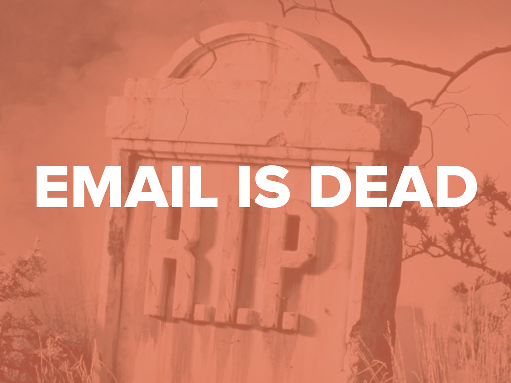 #DMDay15 EMAIL IS DEAD
