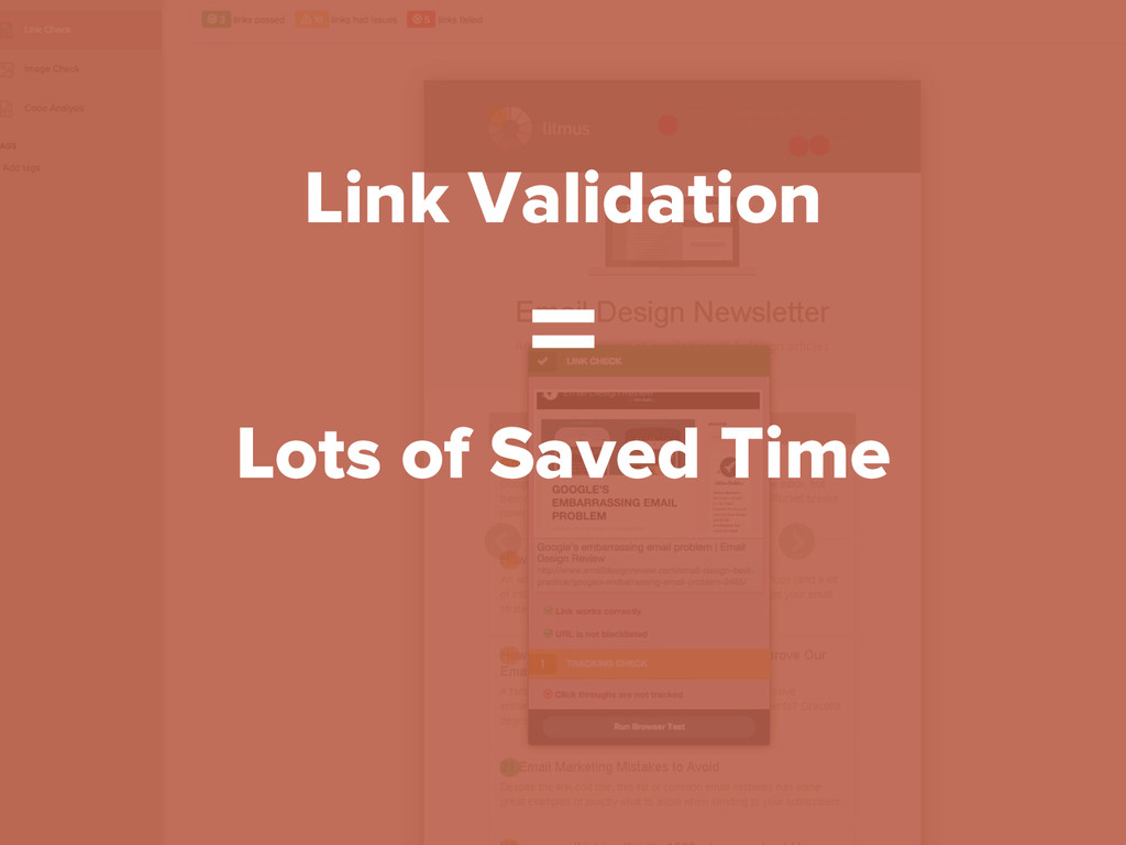 Link Validation = Lots of Saved Time
