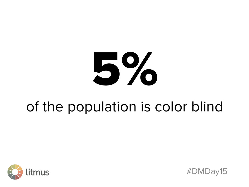 #DMDay15 5% of the population is color blind