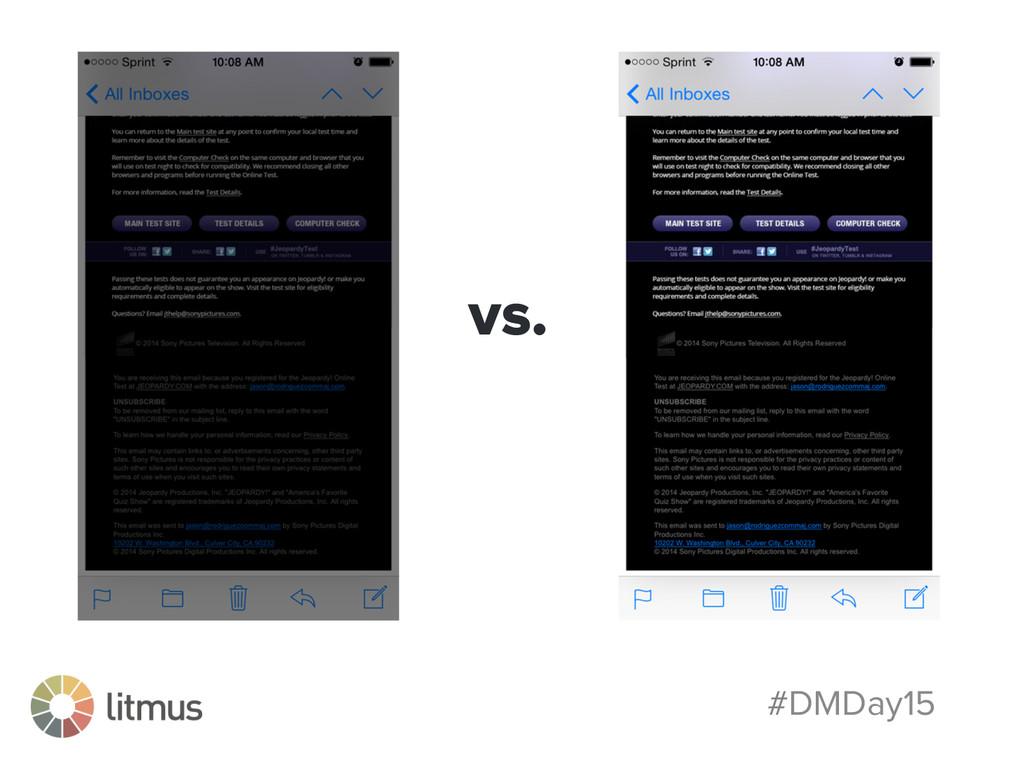 #DMDay15 vs.