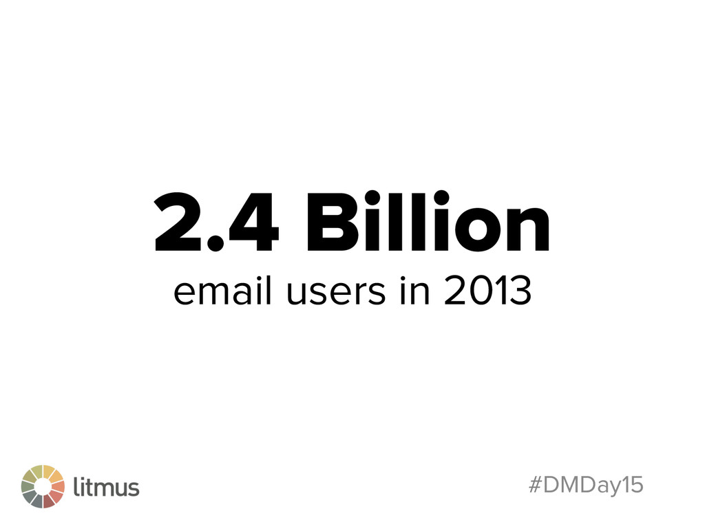 #DMDay15 2.4 Billion email users in 2013