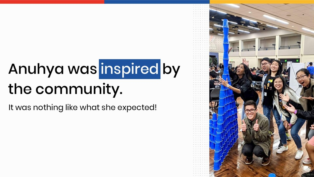 Anuhya was inspired by the community. It was no...